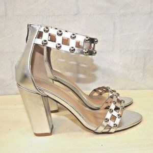016b21965f Olivia Miller Shoes - Olivia Miller Women's Studded Chunky-Heeled Sandal